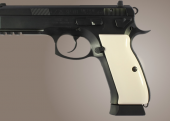 CZ 75 Smooth Ivory Polymer HOGUE 75020