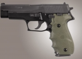 SIG SAUER P226 Rubber W/ Finger Grooves OD Green