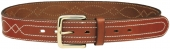 Leather Belt Central Sewing H.4cm. 1C20